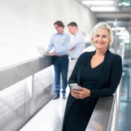Esther van der Wal van Bureau Baken in de gang